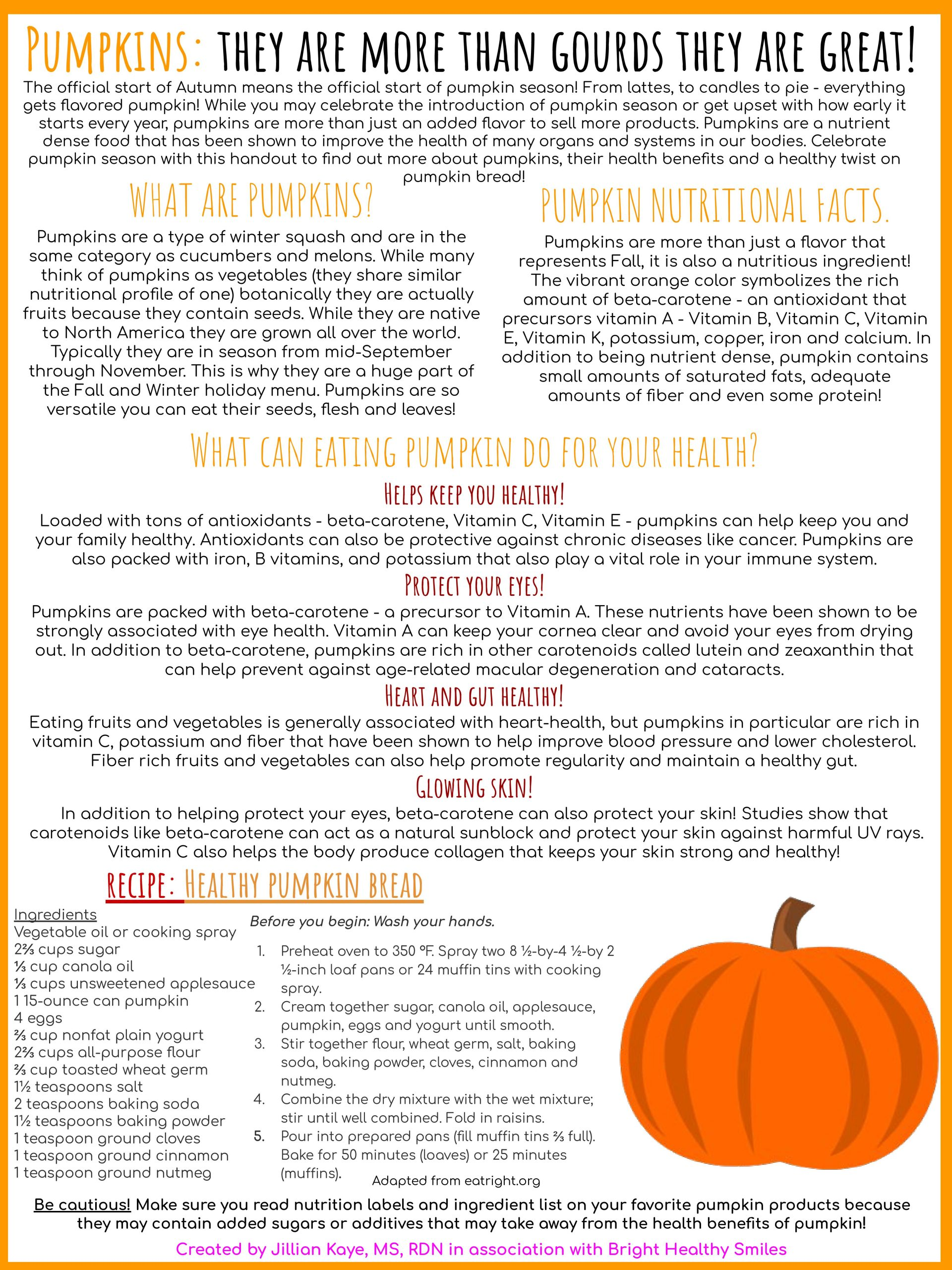 Pumpkins: They are more than gourds they are great!