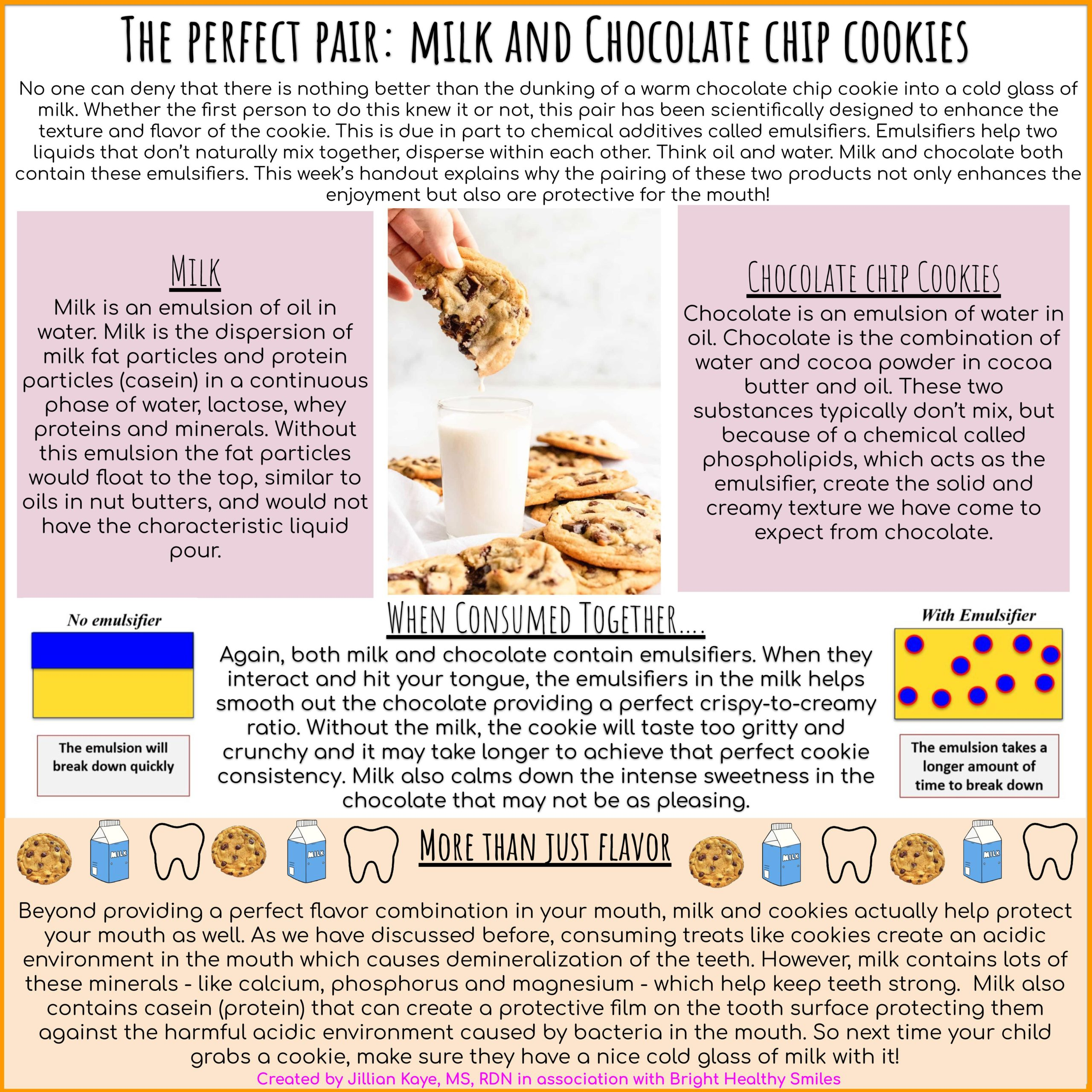 The Perfect Pair: milk and Chocolate Chip Cookies