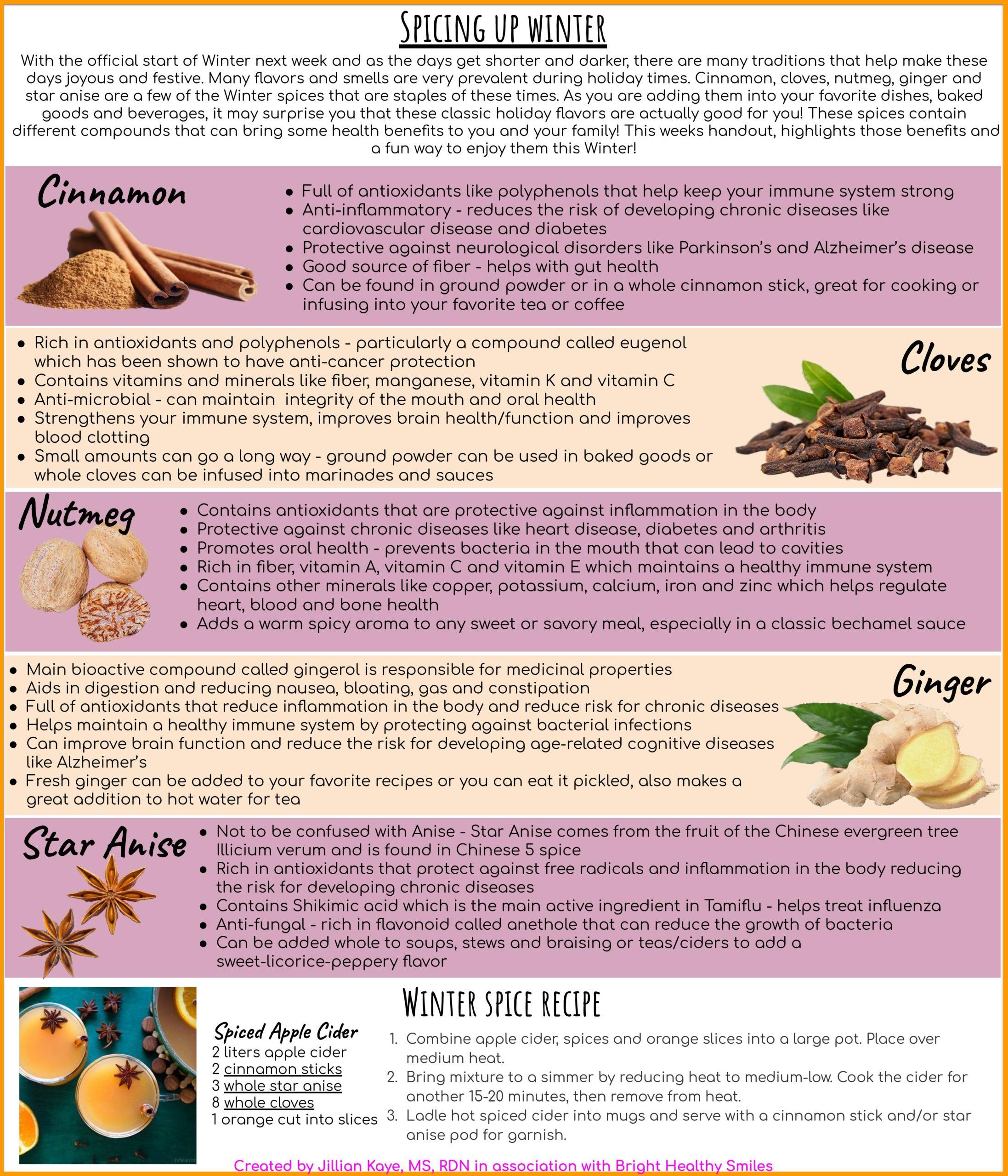 Winter Spices & Winter Spice Recipe